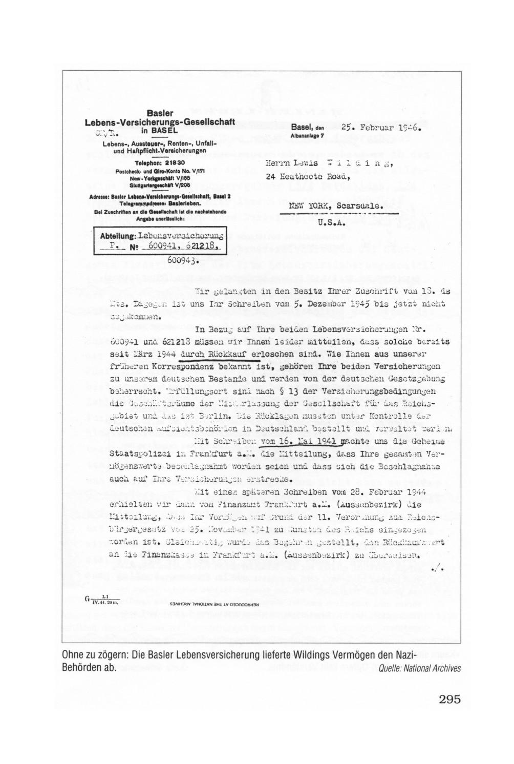 Kapitel 12 Der Geheime Pakt Schweizer Lebensversicherungen In Der