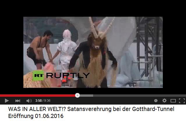 Satanisten am Gotthard-Basistunnel 02, der               Steinbock, das artverwandte Tier zum Ziegenbock, dem               Symboltier der Satanisten