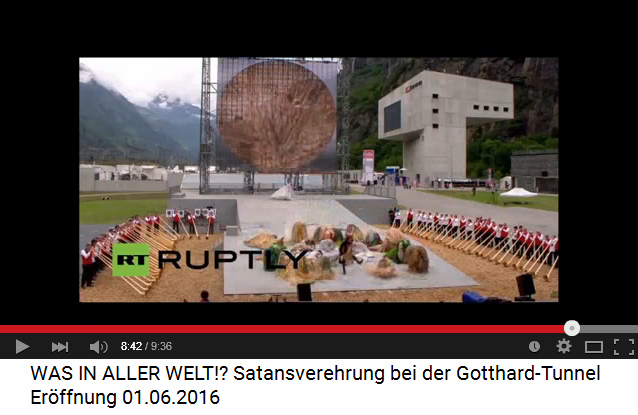 Satanisten am Gotthard-Basistunnel                             09: Totale Unterwerfung unter den Steinbock                             02, und der Steinbock tritt nach!